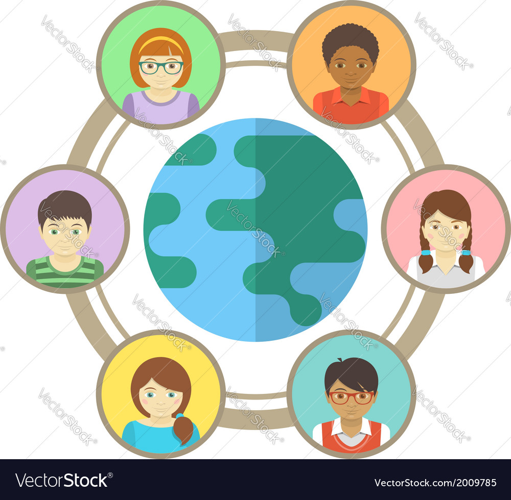 Kids around the world vector | Price: 1 Credit (USD $1)