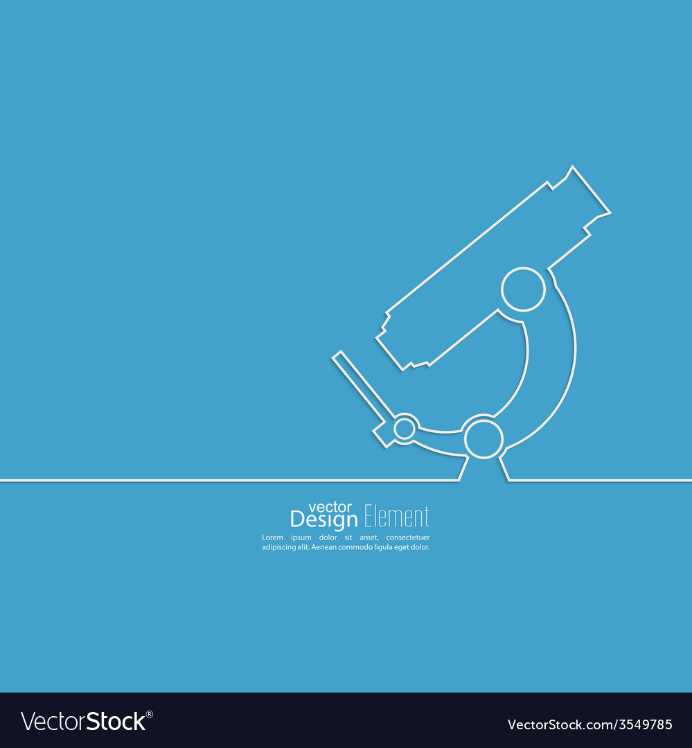 Poster with a microscope vector
