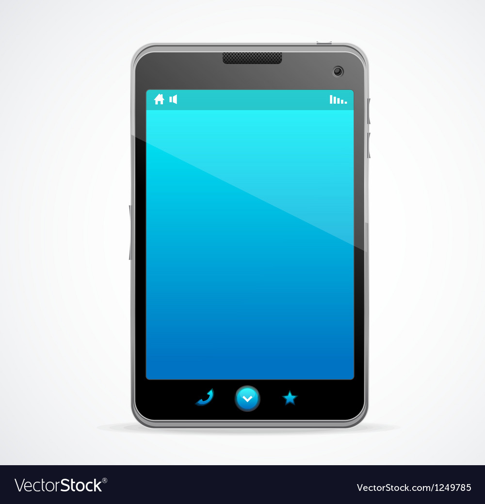 Smart phone with blue screen vector | Price: 3 Credit (USD $3)