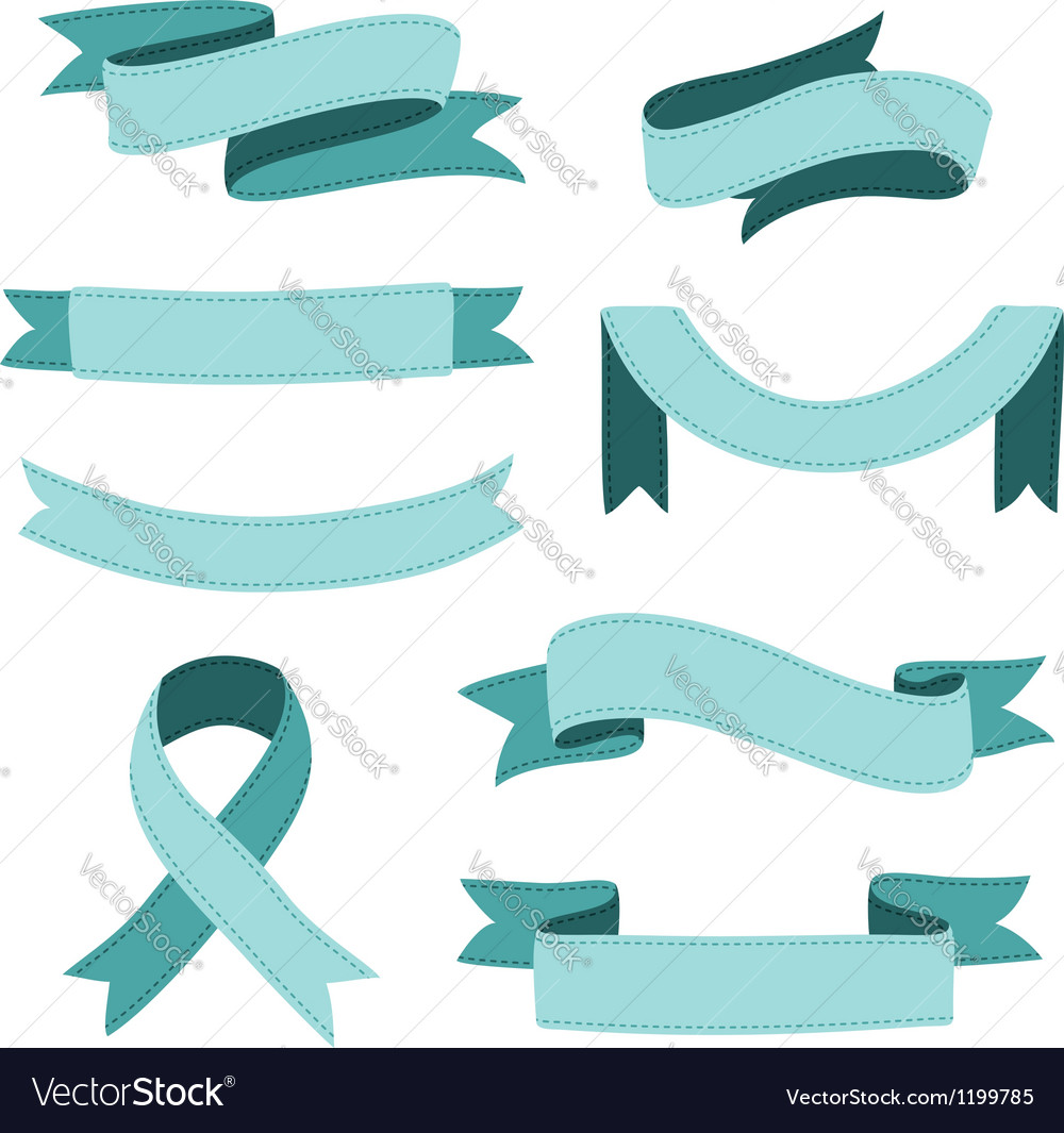 Stitched ribbons set vector | Price: 1 Credit (USD $1)