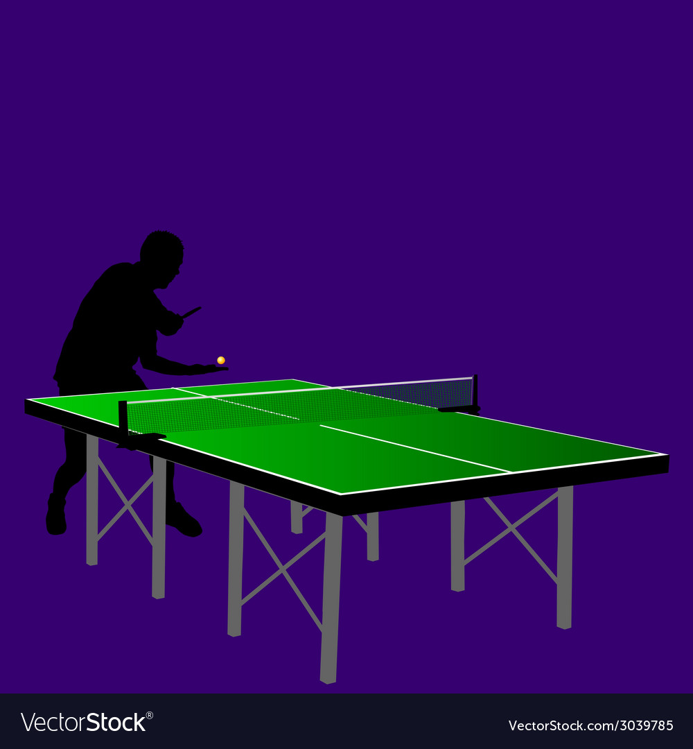 Table tennis serving vector | Price: 1 Credit (USD $1)