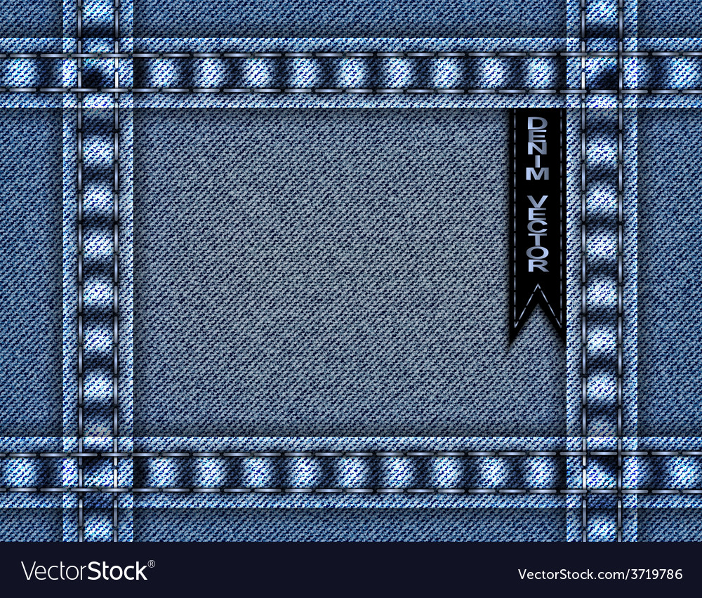 Blue denim frame vector | Price: 1 Credit (USD $1)