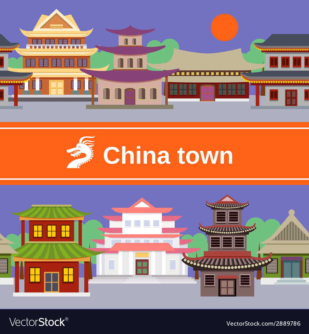 China town tileable border vector | Price: 1 Credit (USD $1)