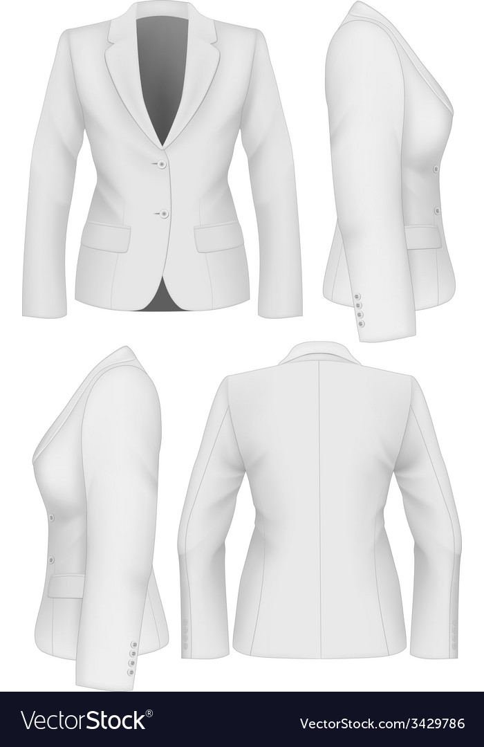 Ladies suit jacket vector | Price: 1 Credit (USD $1)