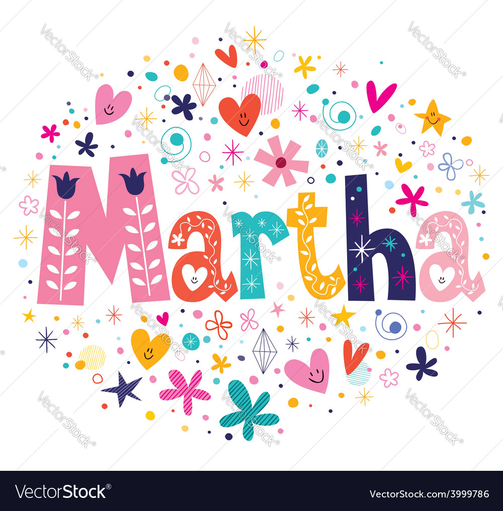 Martha female name decorative lettering type vector | Price: 1 Credit (USD $1)