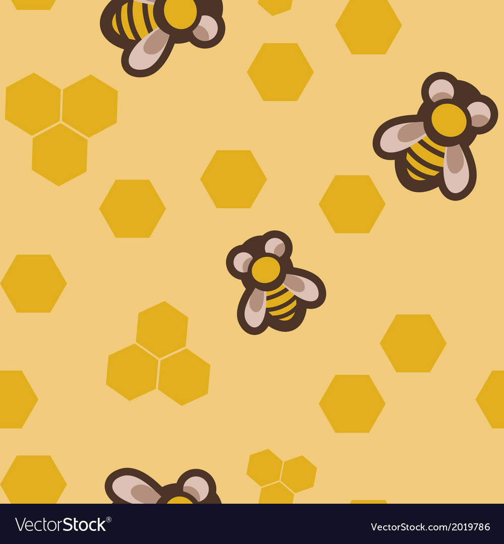 Seamless with bees vector | Price: 1 Credit (USD $1)