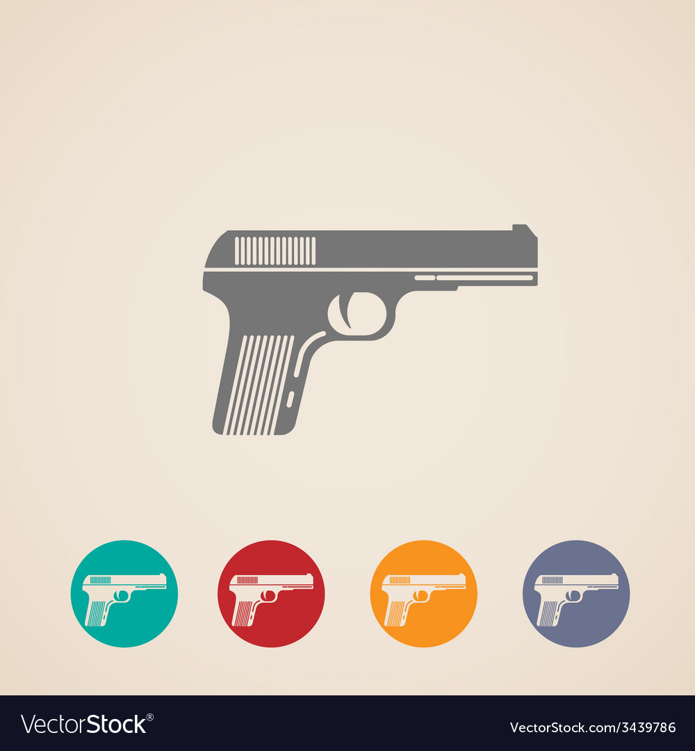 Set of gun icons vector | Price: 1 Credit (USD $1)