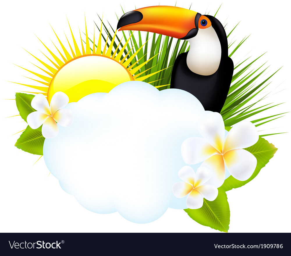 Tropical with toucan vector | Price: 1 Credit (USD $1)