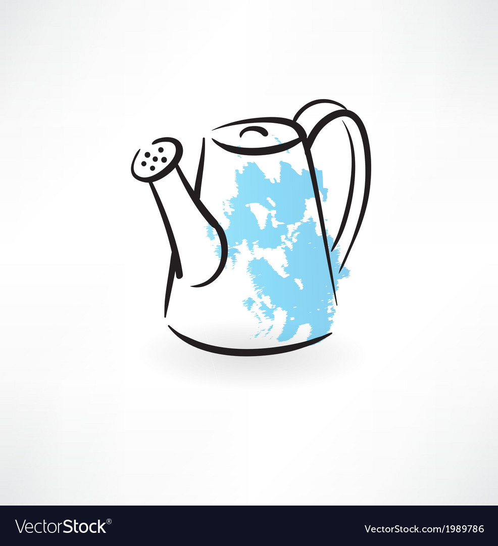 Watering can grunge icon vector | Price: 1 Credit (USD $1)