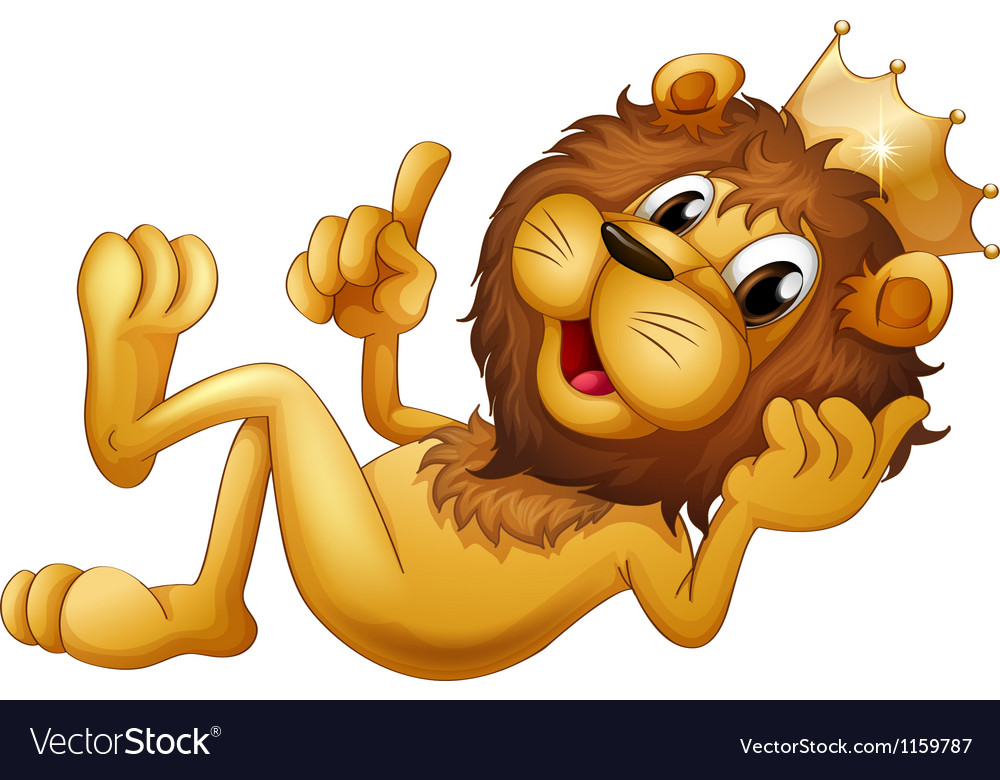 A king lion vector | Price: 1 Credit (USD $1)