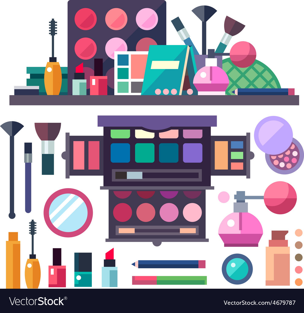 Beauty store with cosmetics vector | Price: 3 Credit (USD $3)