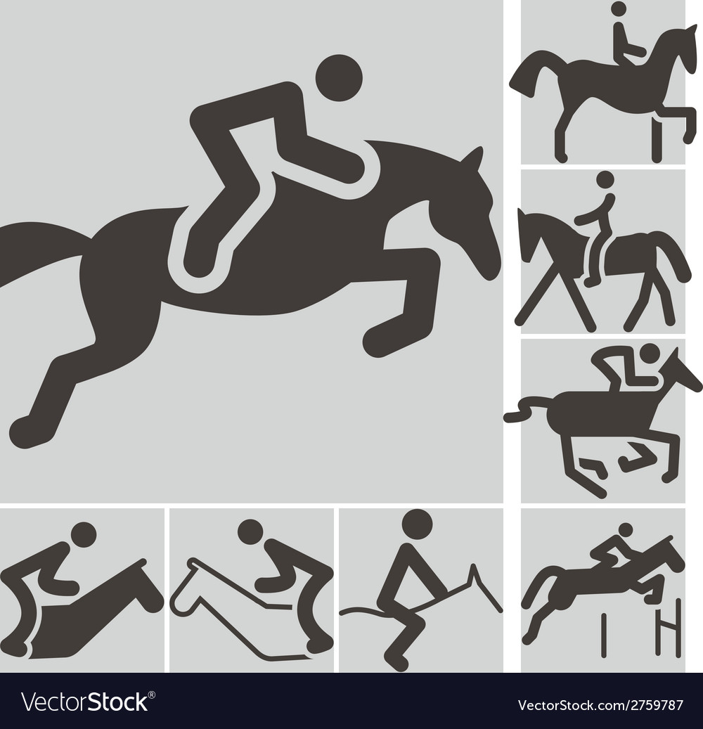 Equestrian icons vector | Price: 1 Credit (USD $1)