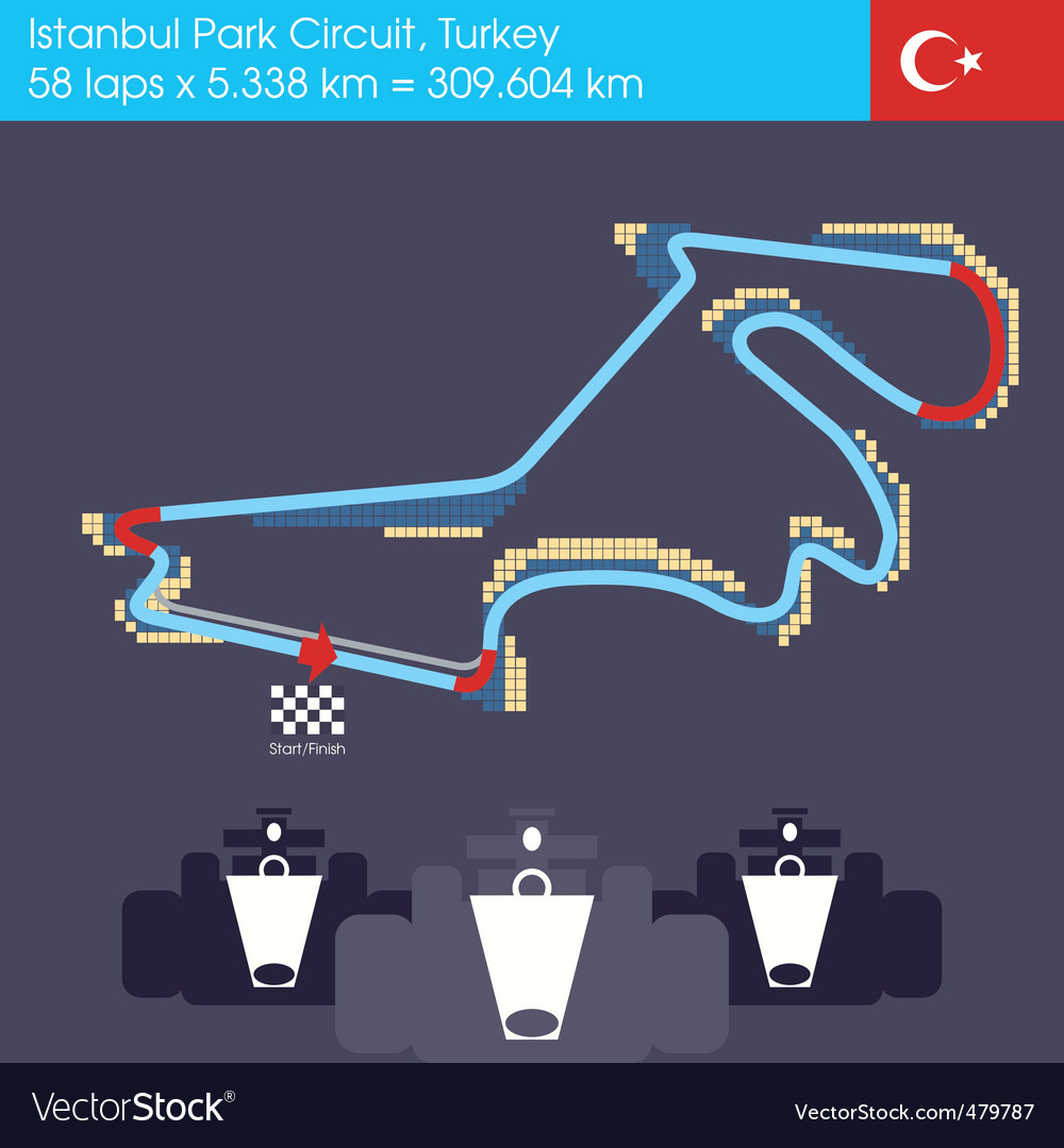 Formula 1 turkey circuit vector | Price: 1 Credit (USD $1)