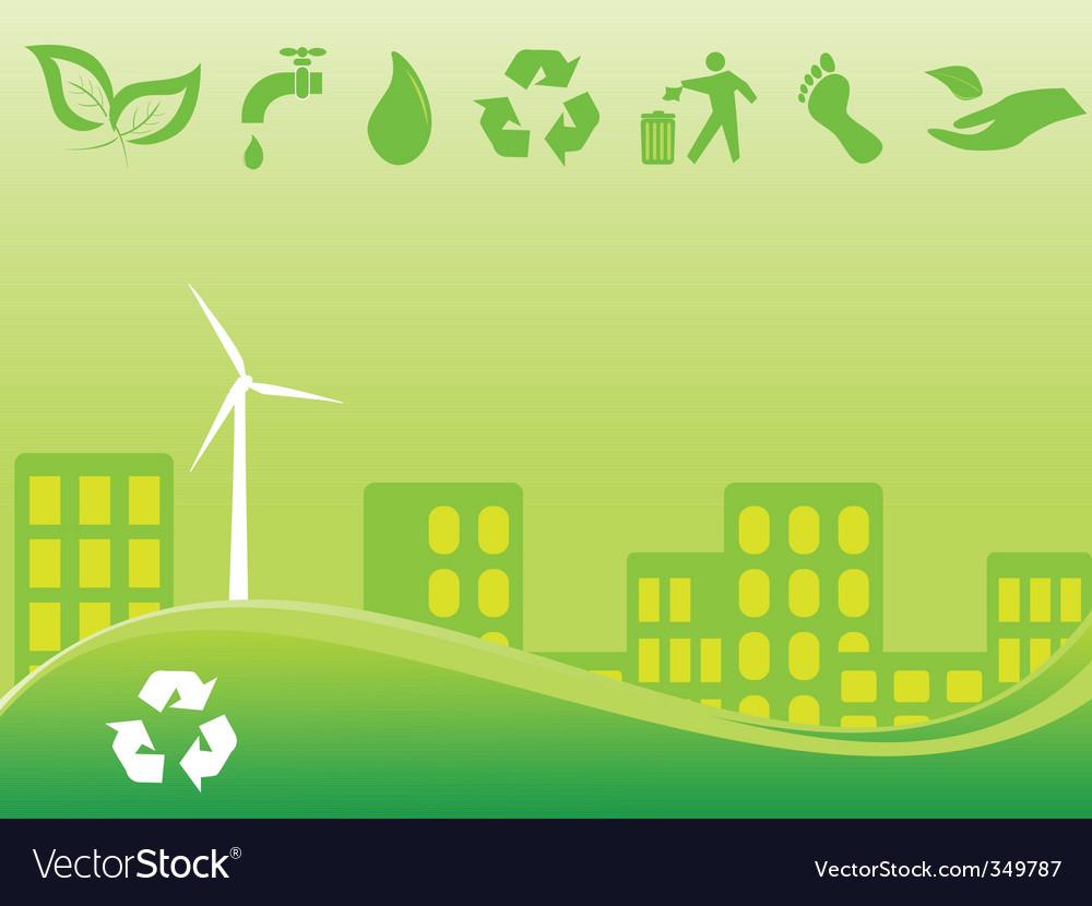 Green city vector | Price: 1 Credit (USD $1)