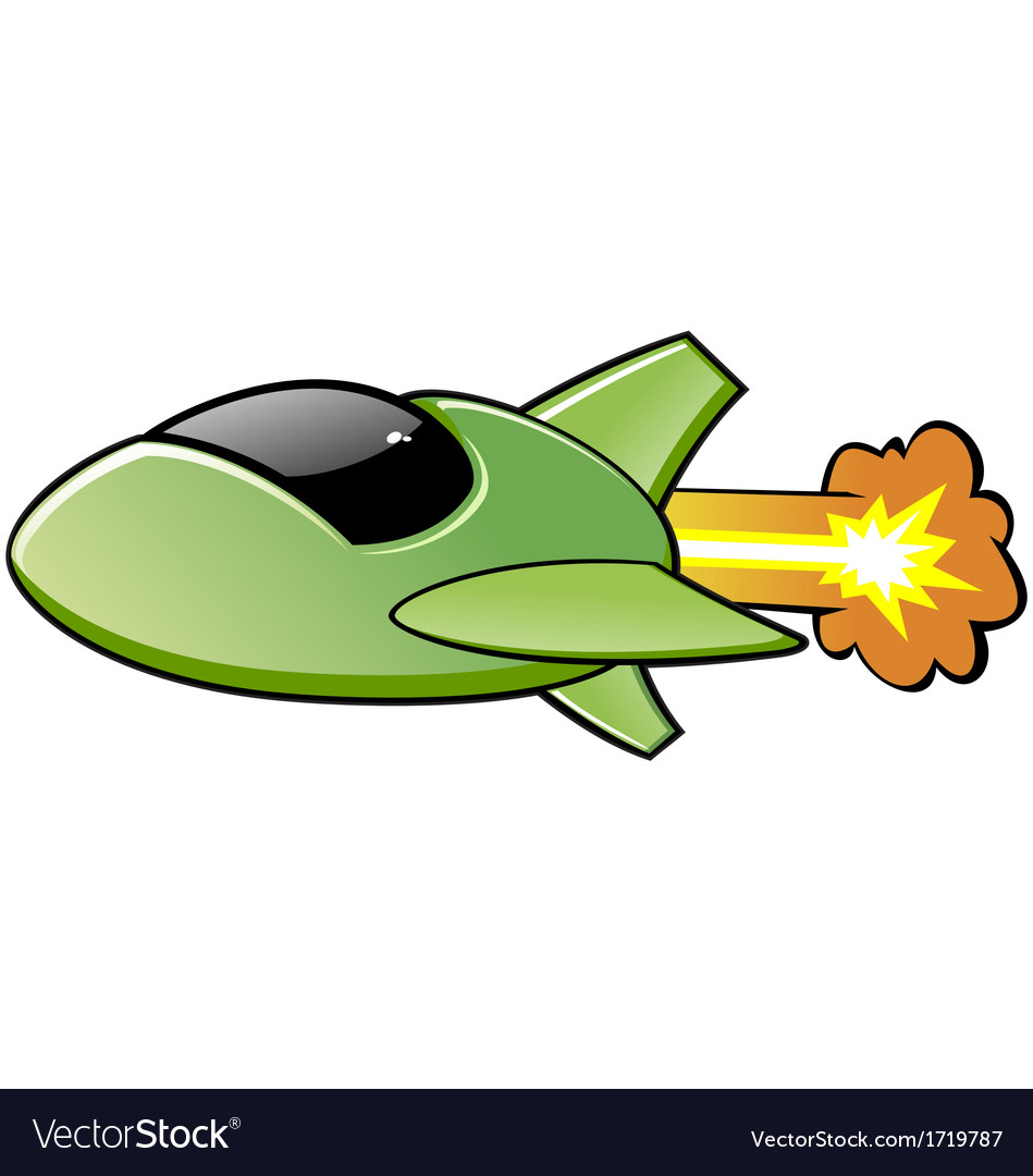 Green spaceship vector | Price: 1 Credit (USD $1)