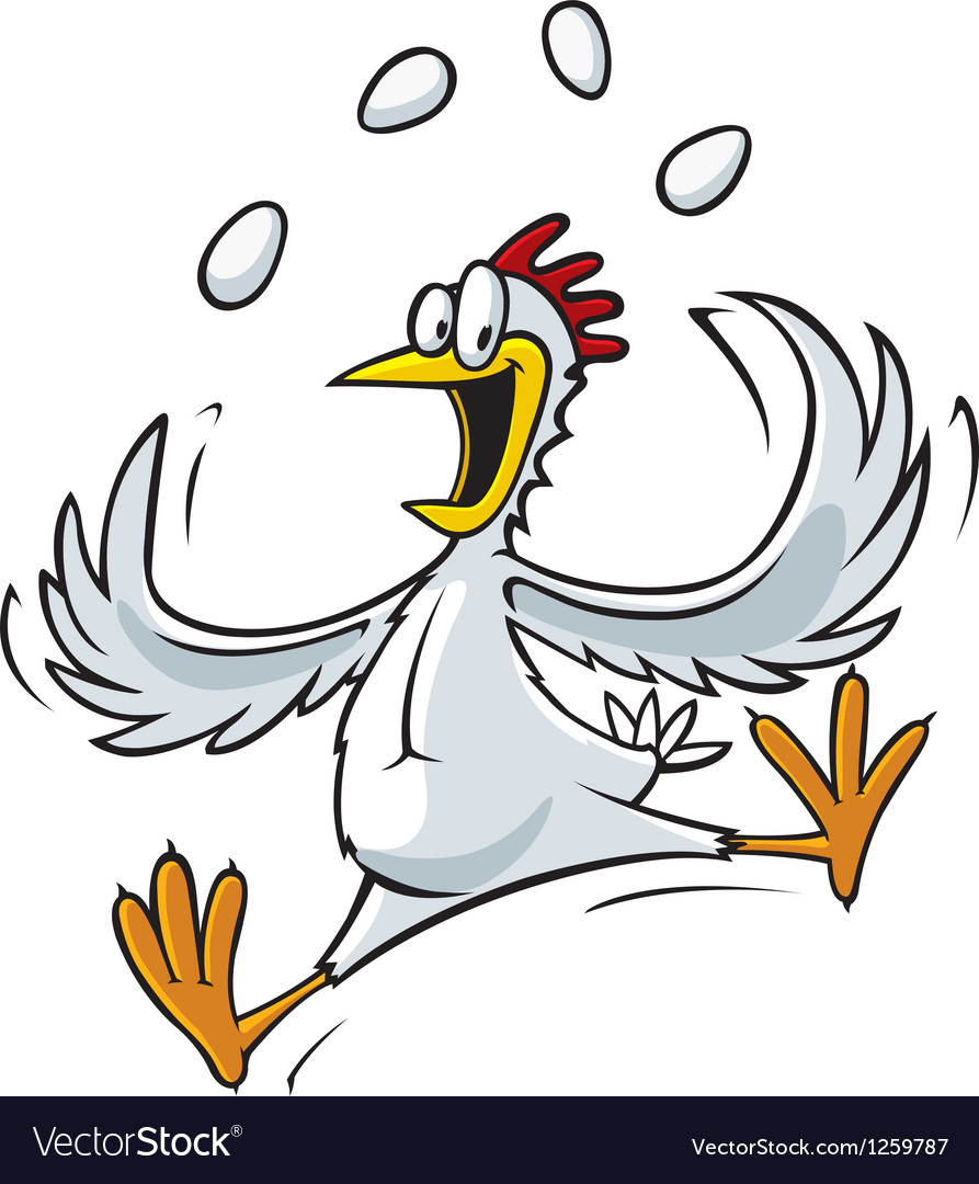 Juggling chicken vector | Price: 3 Credit (USD $3)