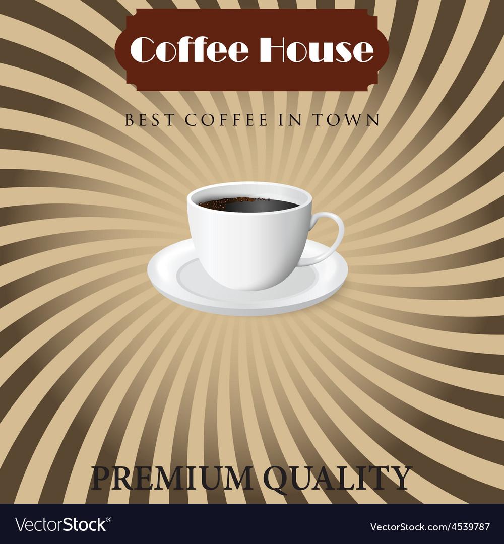 Menu for coffee in vintage vector | Price: 1 Credit (USD $1)