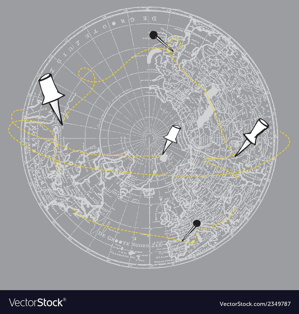 Round map background vector