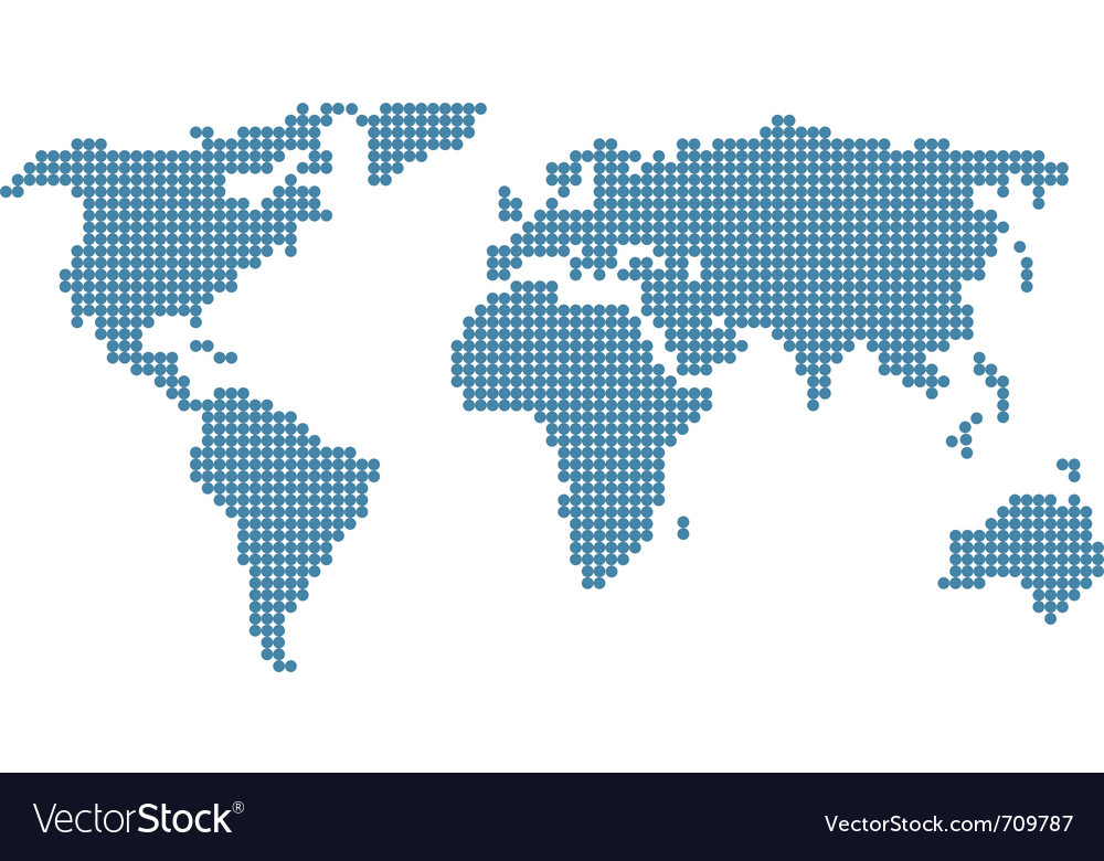 Stylised world map vector | Price: 1 Credit (USD $1)