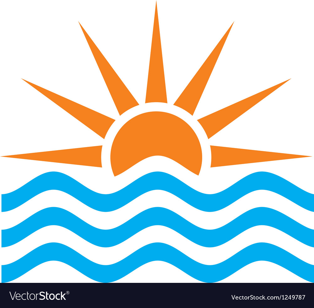 Stylized of sunset and sunrise vector | Price: 1 Credit (USD $1)