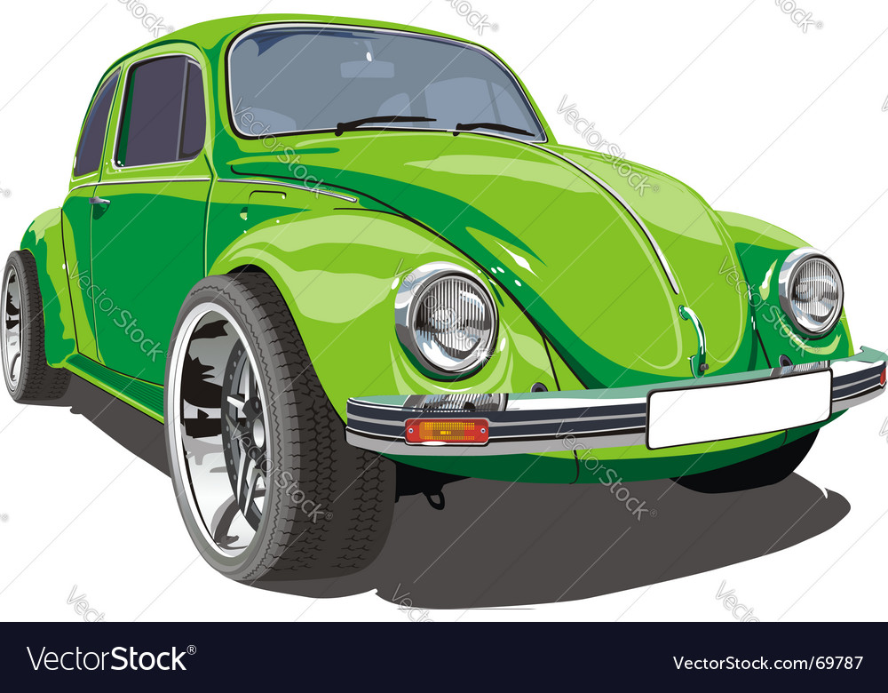 Tuned retro vw vector | Price: 3 Credit (USD $3)