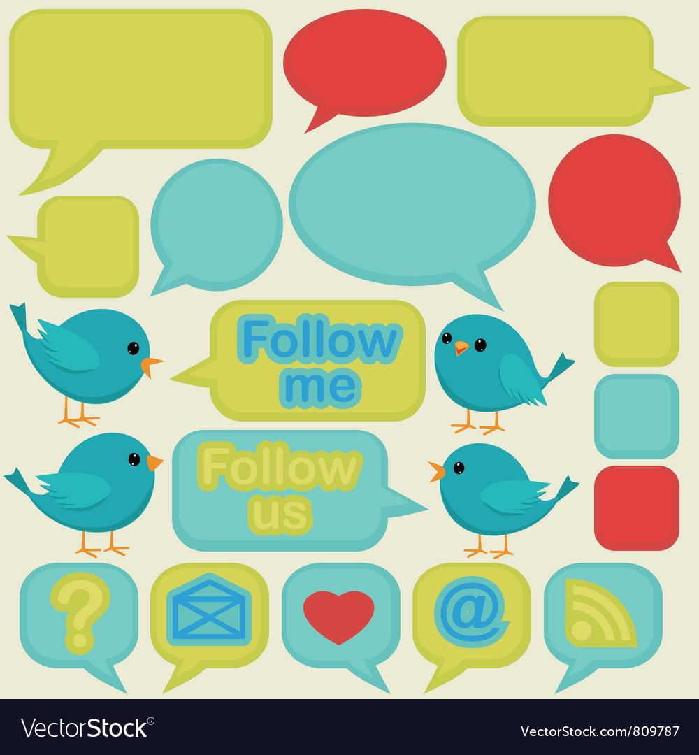 Twitter social media ui vector   Price: 1 Credit (USD $1)
