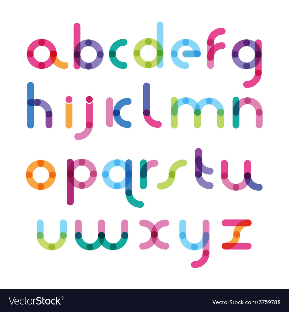 Bright font with the mixed color vector | Price: 1 Credit (USD $1)
