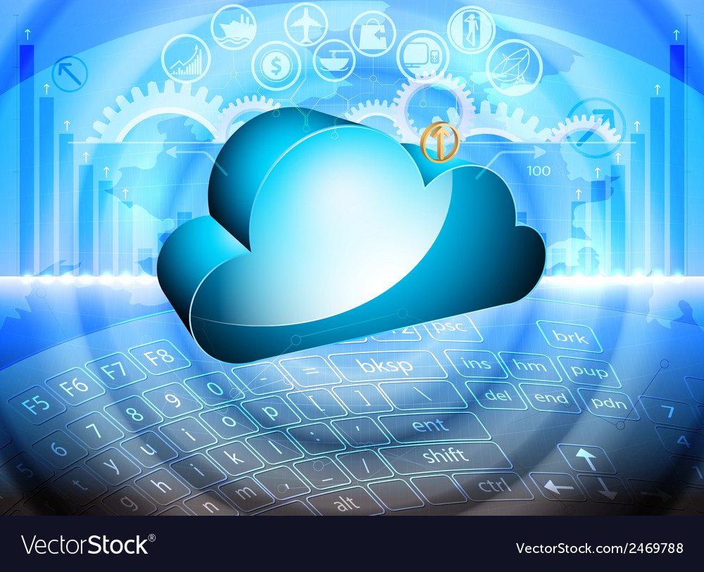 Cloud computing technology vector | Price: 1 Credit (USD $1)