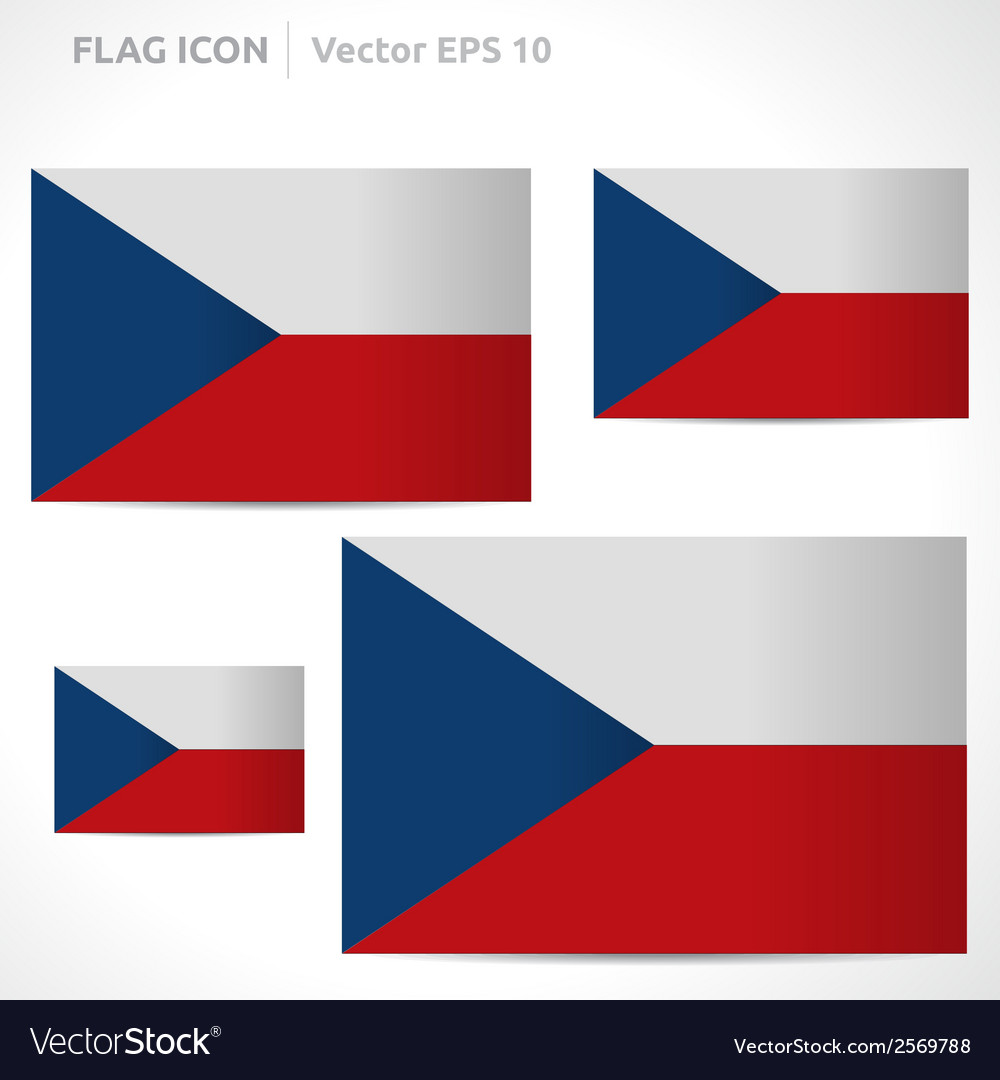 Czech republic flag template vector | Price: 1 Credit (USD $1)