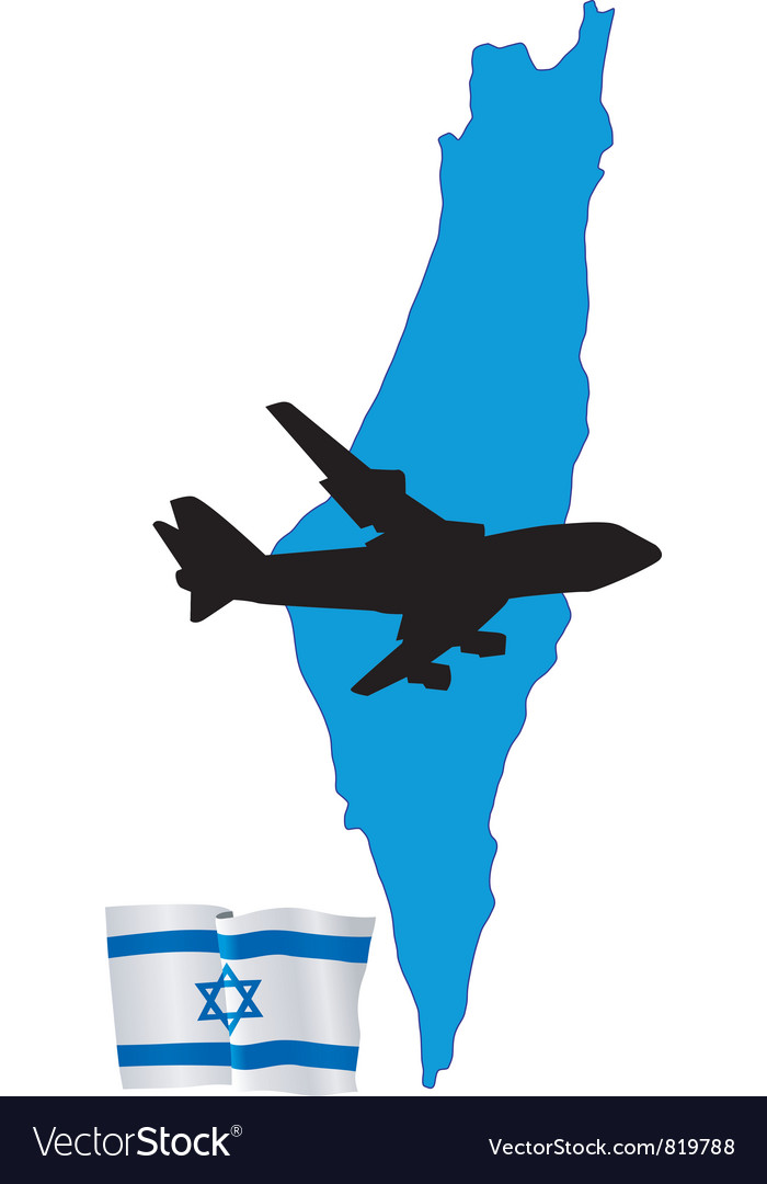 Fly me to the israel vector | Price: 1 Credit (USD $1)