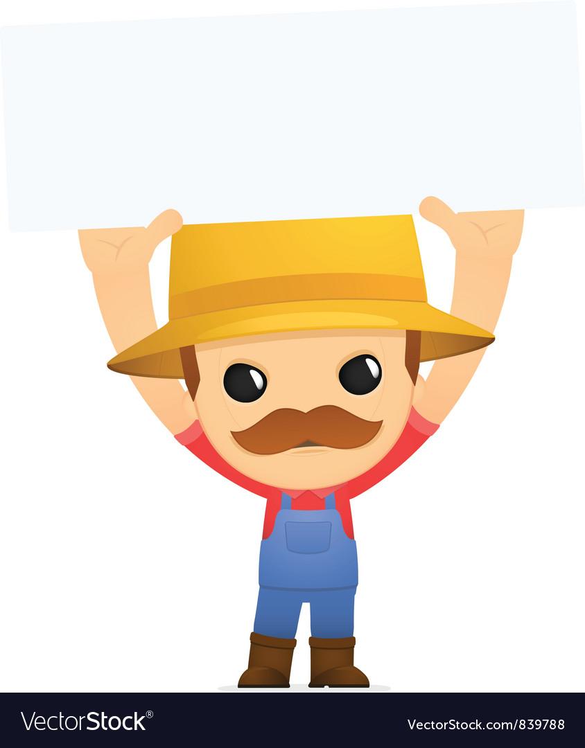 Funny cartoon farmer vector | Price: 1 Credit (USD $1)