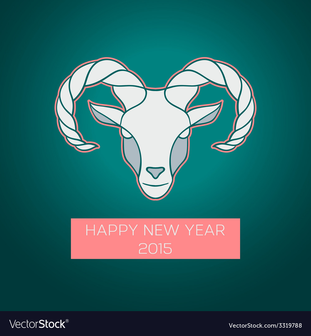 The goat is a symbol of 2015 vector | Price: 1 Credit (USD $1)