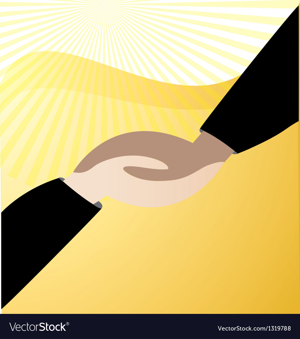 Handshaking business logo vector | Price: 1 Credit (USD $1)
