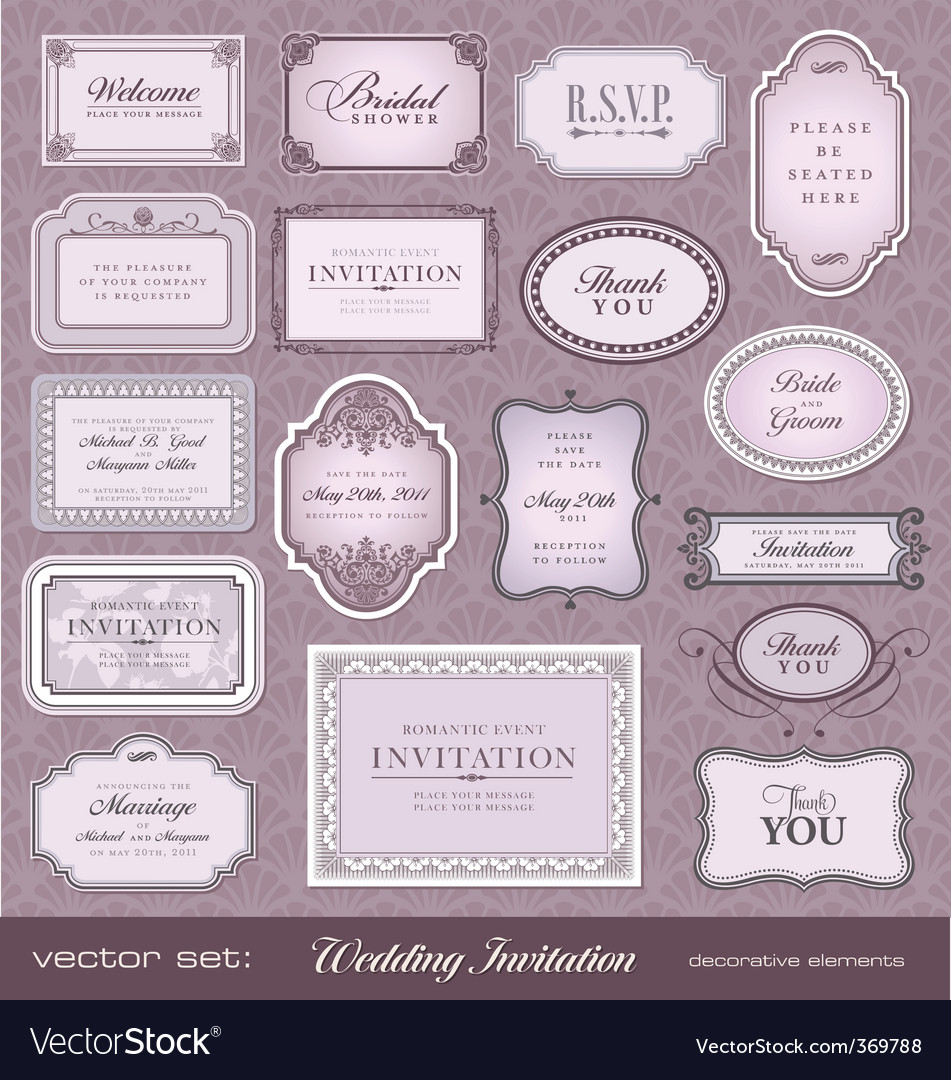 Invitation design elements vector | Price: 1 Credit (USD $1)