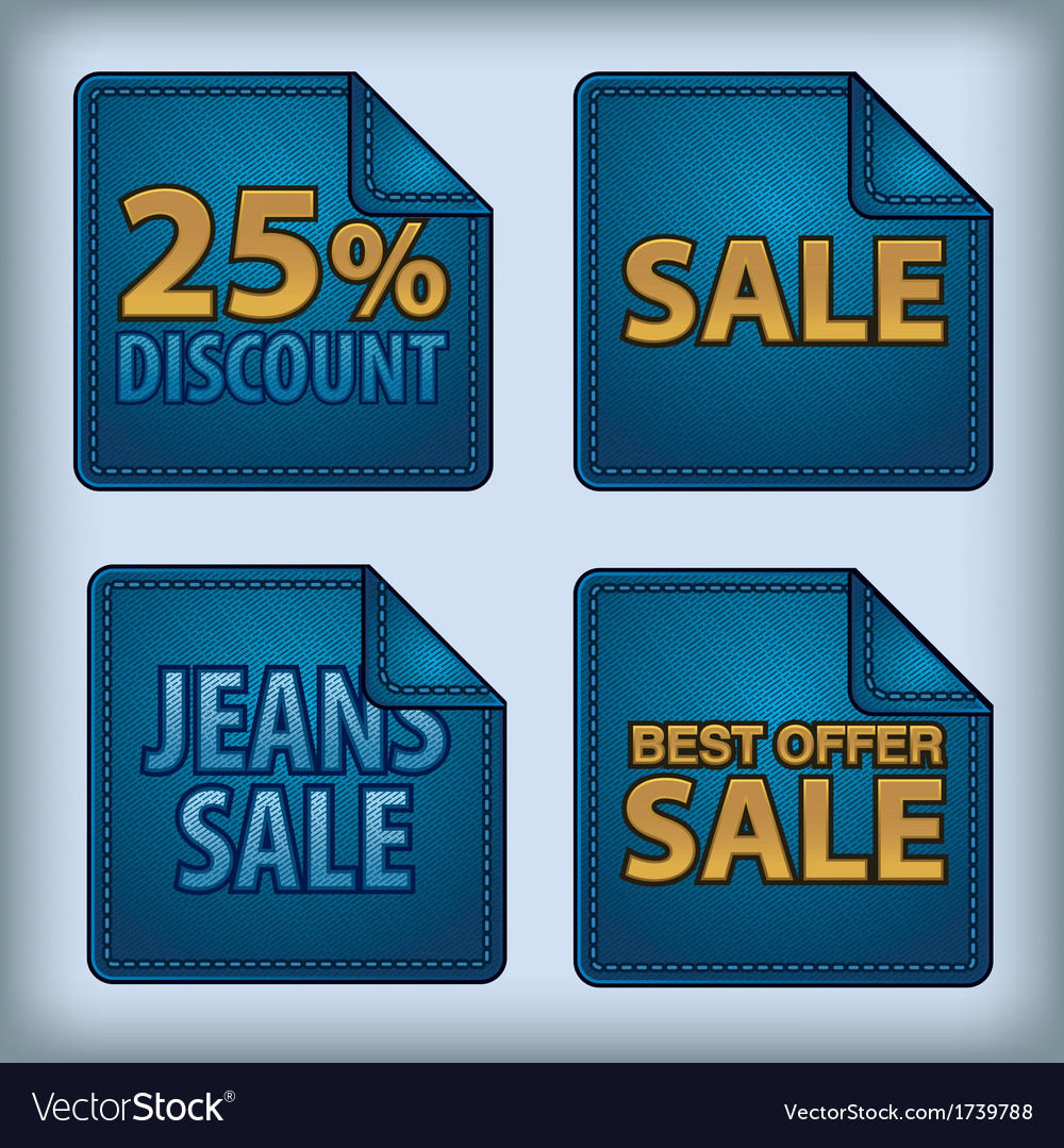Jeans sticker sale vector | Price: 1 Credit (USD $1)