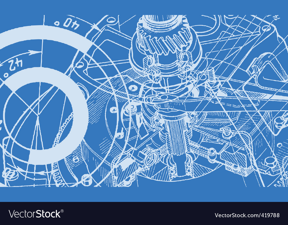 Technical drawing background vector | Price: 1 Credit (USD $1)