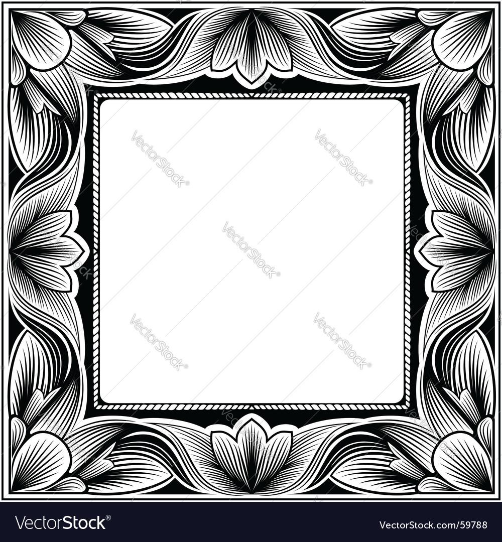 Vintage square frame vector | Price: 1 Credit (USD $1)
