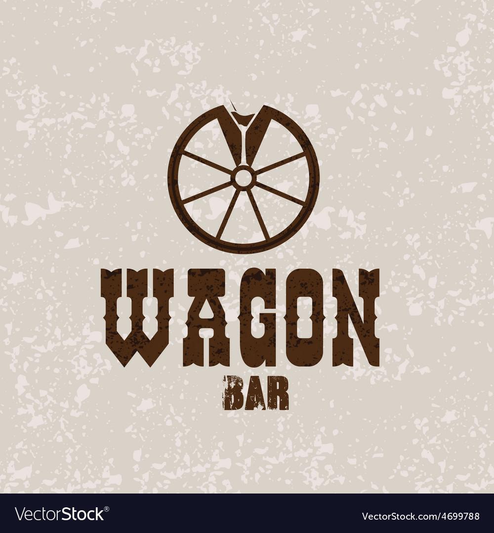 Wagon western bar grunge concept design template vector | Price: 1 Credit (USD $1)