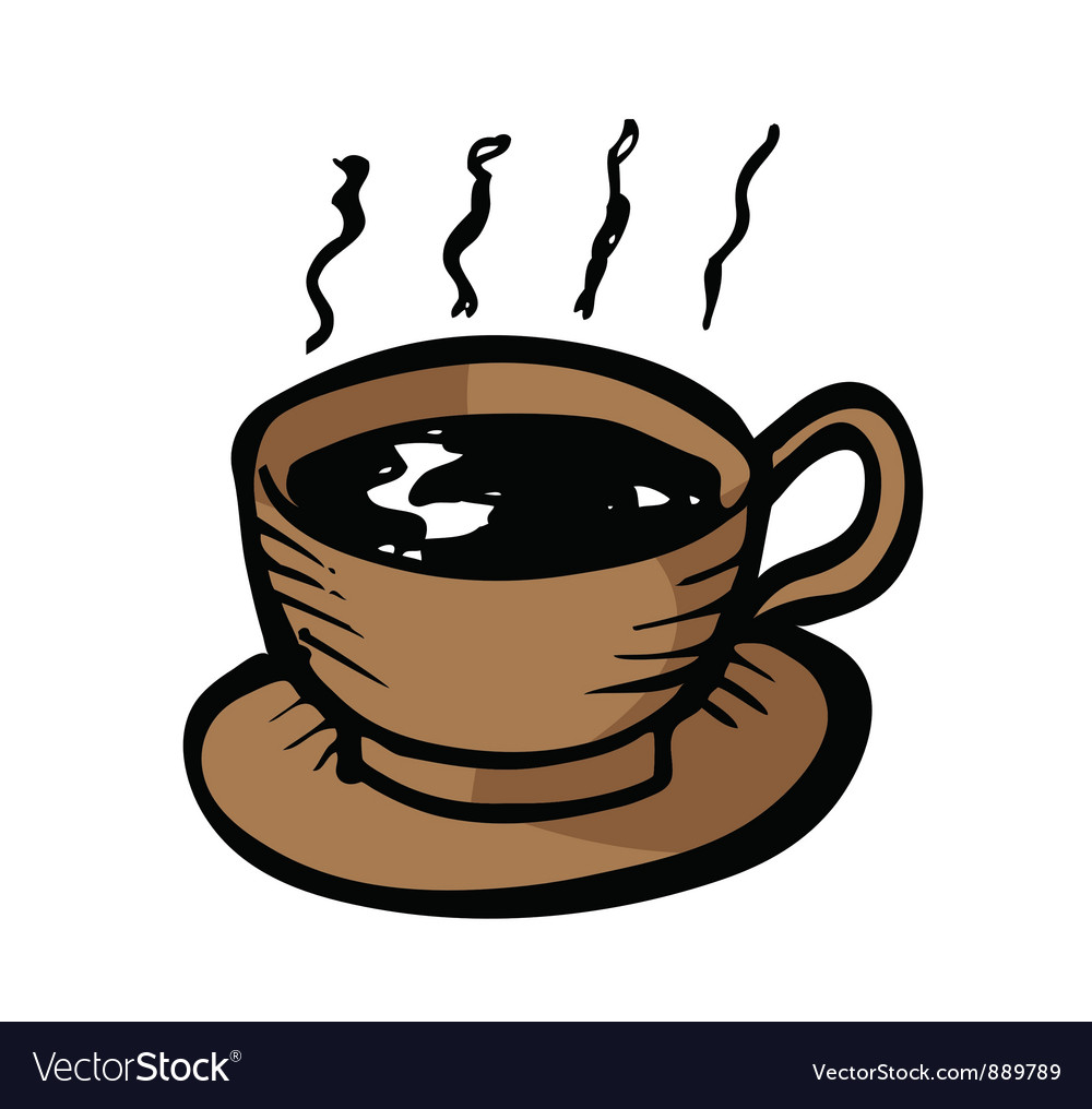 A cup of coffee vector | Price: 1 Credit (USD $1)