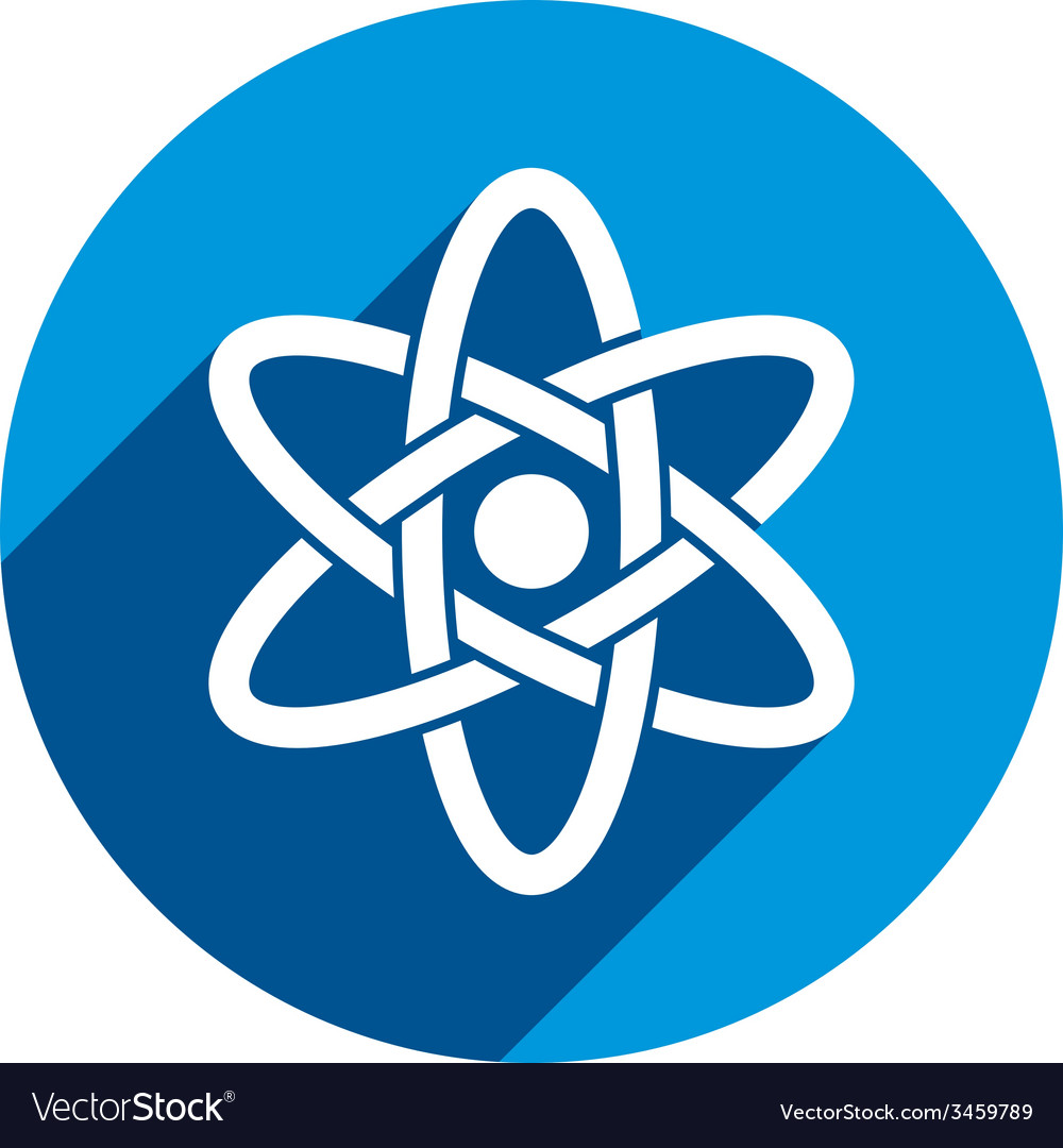 Atom part on white background icon vector | Price: 1 Credit (USD $1)