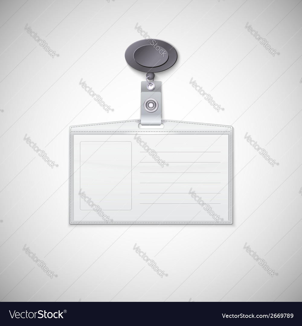 Badge holder vector | Price: 1 Credit (USD $1)