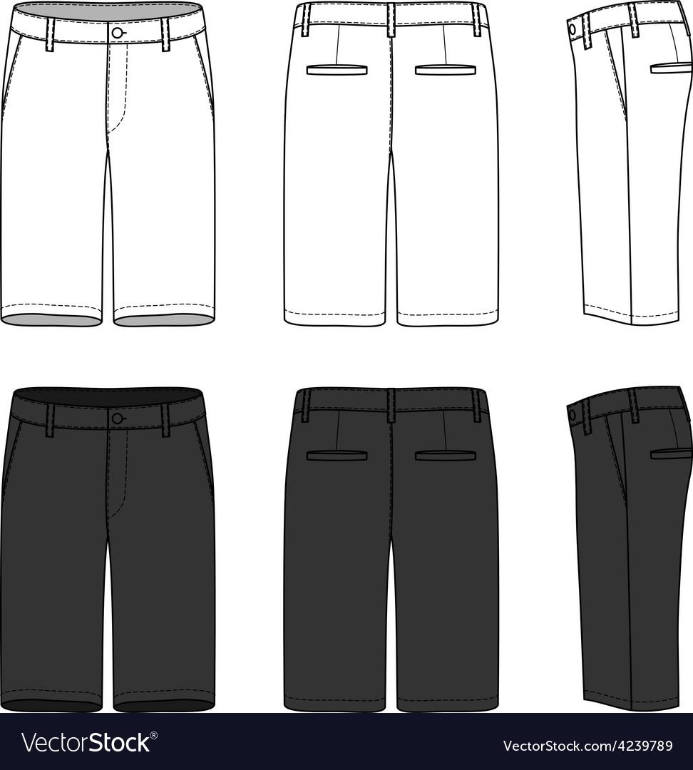 Blank mens shorts vector | Price: 1 Credit (USD $1)
