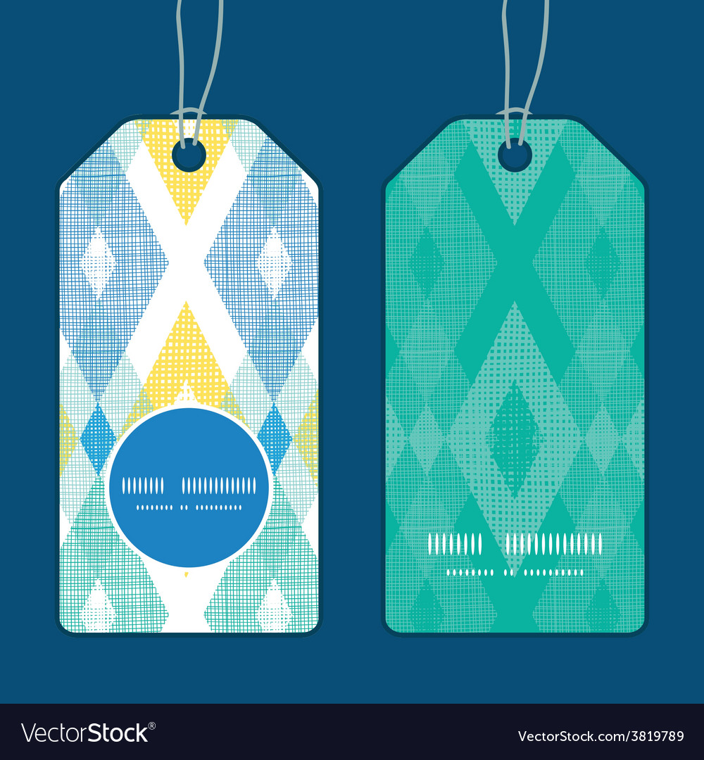 Colorful fabric ikat diamond vertical round vector | Price: 1 Credit (USD $1)