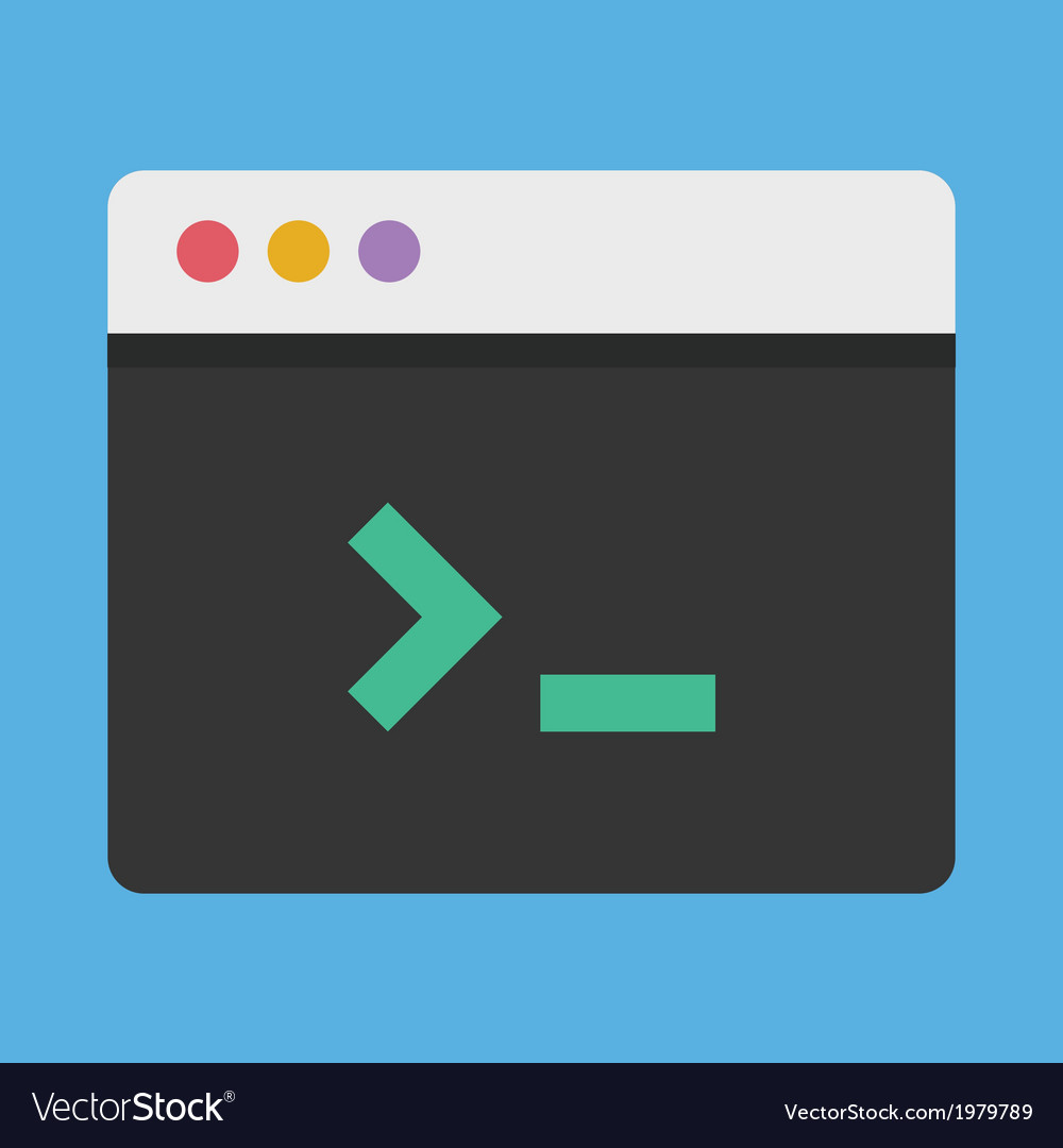 Command line icon vector | Price: 1 Credit (USD $1)
