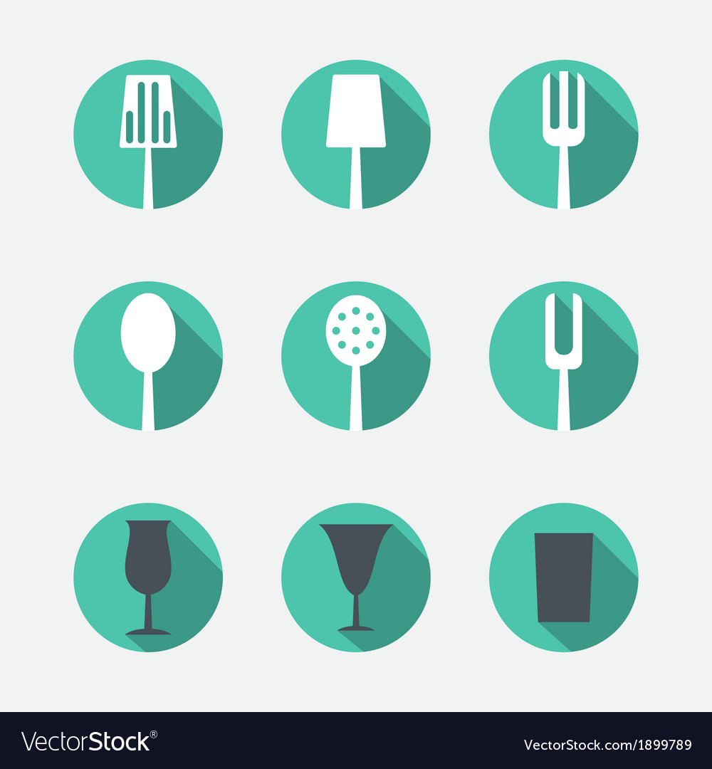 Cutlery icons vector | Price: 1 Credit (USD $1)