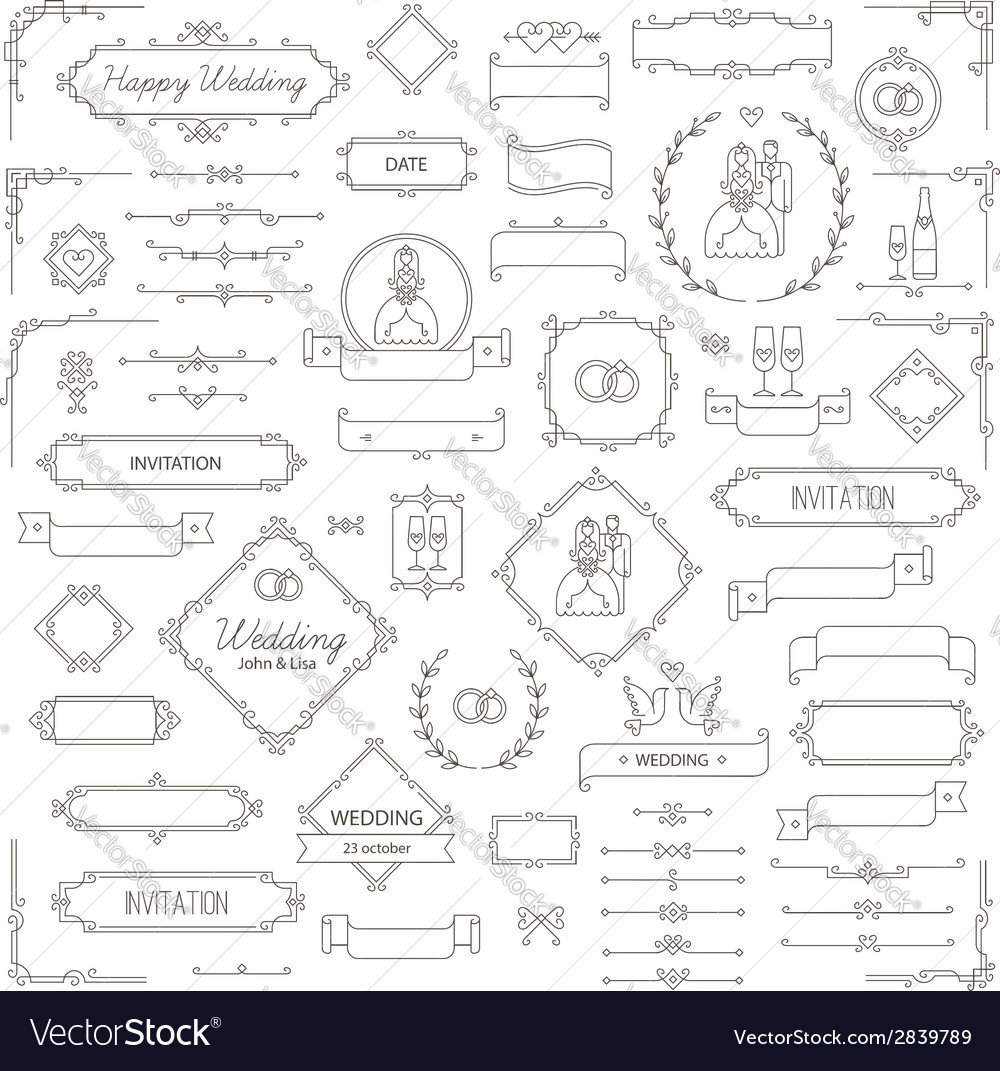 Design elements wedding vector | Price: 1 Credit (USD $1)