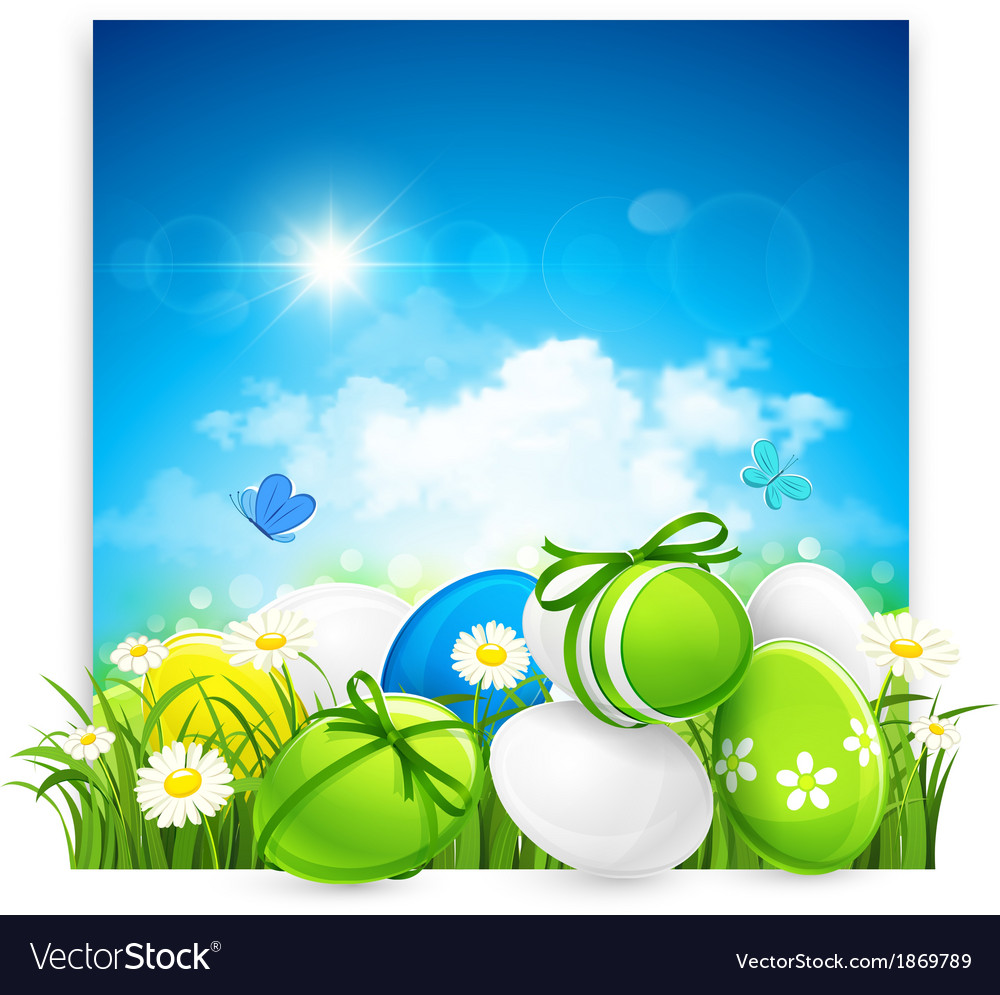 Easter banner vector | Price: 3 Credit (USD $3)
