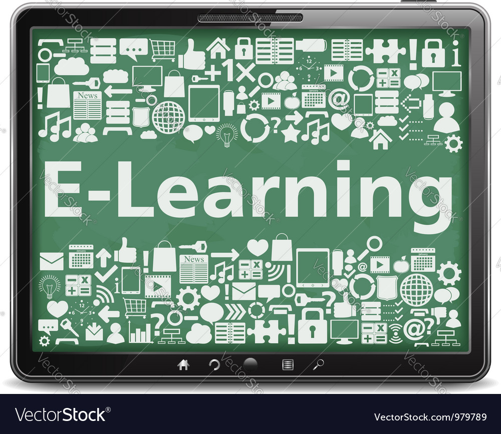 E-learning concept vector | Price: 1 Credit (USD $1)