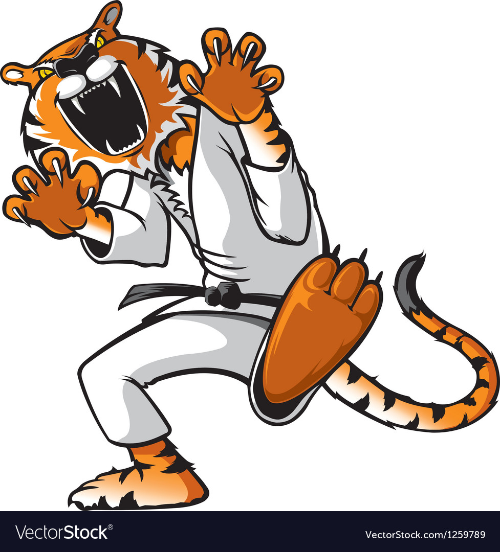 Kung fu tiger vector | Price: 3 Credit (USD $3)