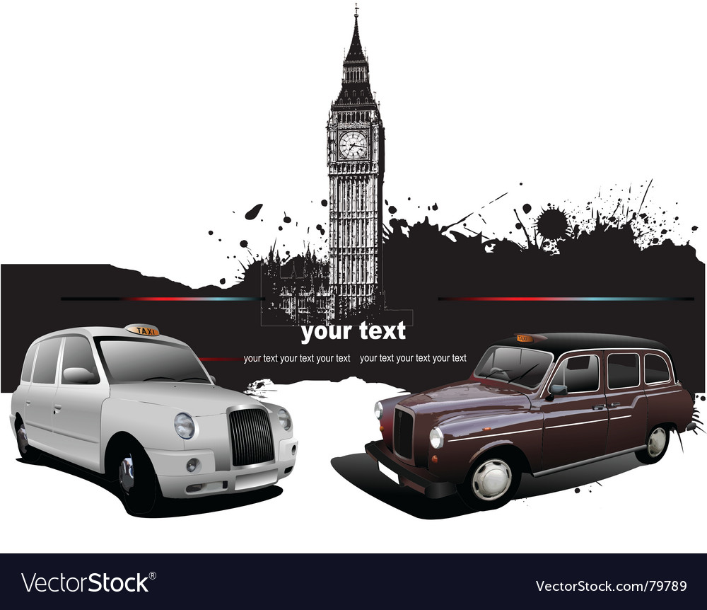 London taxicab vector | Price: 1 Credit (USD $1)